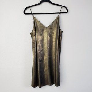 Aritzia Wilfred Free Gold Bronze Metallic Dress